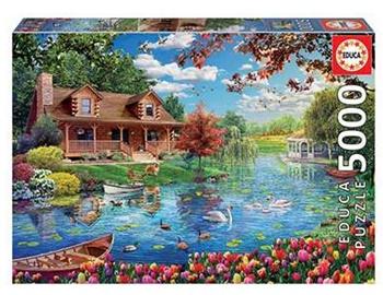 Casita en el lago, 5000 piezas.