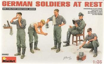 Soldados alemanes , escala 1/35.