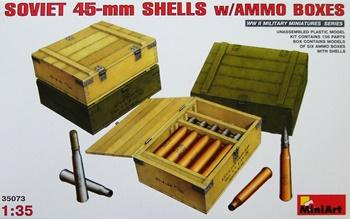 Cajas con munición soviética, escala 1/35.