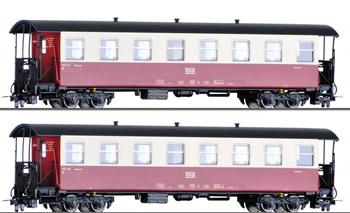 Set de dos coches pasajeros HSB, época V-VI.