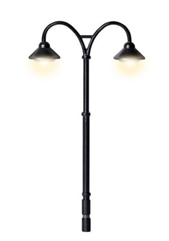 Farola doble clásica Baden-Baden 2 LEDs blanc. Medida: 5.4cm