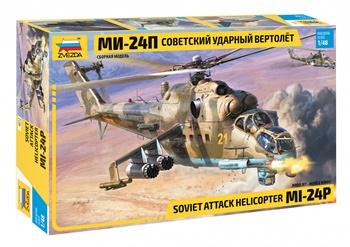 Helicóptero soviético MI-24P. Escala 1/48.