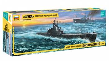 Submarino soviético WWII SHCHUKA (SHCH), escala 1/144.
