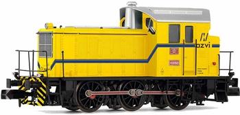 Locomotora Diesel 10393 AZVI amarilla.