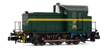 Locomotora Diesel RENFE color verde, época IV. Digital.