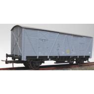 Vagón cerrado J-302640, época III color gris.