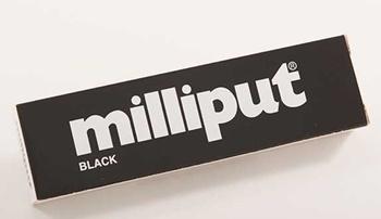 Masilla epoxy putty color negro.