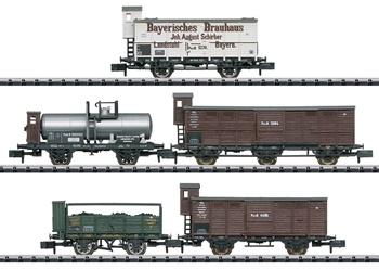 Set de vagones de los Ferrocarriles Estatales Pfalzbahn y Royal Bavari