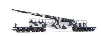 Vagón con cañon K5 de camuflaje, época II.
