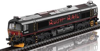 Locomotora diesel clase 66 RUSH RAIL, época VI. Digital.