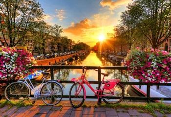 Bicicletas en Amsterdam, 75 piezas.