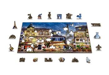 Desayuno en París, puzle de madera 75 piezas.