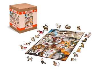 Gatitos en Londres, puzle de madera de 75 piezas.