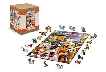 Cachorros en París, puzle de 75 piezas.