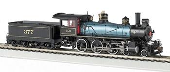 Locomotora de Vapor 4-6-0 Baldwin 52 C&O #377. Digital con Sonido.