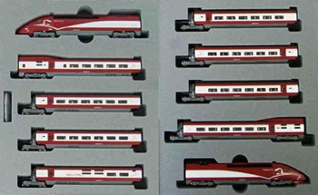 Thalys PBKA, tren expreso de alta velocidad, set de 10 coches. Escaal