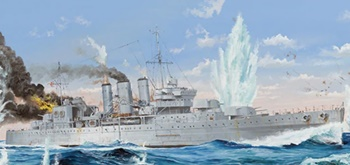HMS Cornwall, kit de plástico escala 1/350.