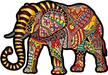 Elefante mágico, puzzle de madera 245 piezas.