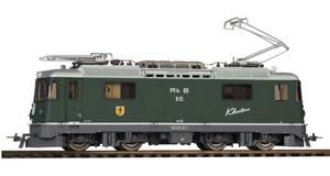 Locomotora eléctrica RhB Ge 4/4 II 615 Klosters, color verde.