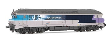 Locomotora diesel SNCF CC72074, época V.