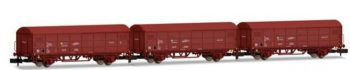 Set de 3 vagones RENFE JPD, rojo óxido, época IV.