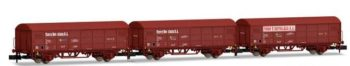 Set de tres vagones RENFE JPD Toro y Betolaza color rojo óxido, época