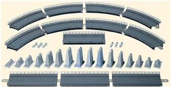Set completo de puente en curva R=360mm, 30º.