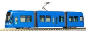Tranvía de color azul. Digital.