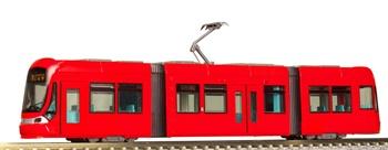 Tranvía de color rojo. Escala N.