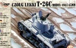 CZOLG LEKKI T-26C, kit escala 1/72.
