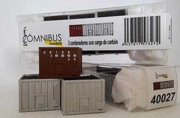 Pack de 3 contenedore Unión Carbonera.