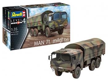 MAN 7t. MILGL 6x6. Kit de plástico escala 1/35.