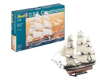 U.S.S. Constituition. Kit de plástico escala 1/146.
