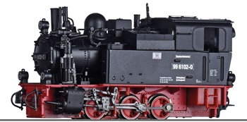 Locomotora de vapor 99 6102-0 DR, época IV.