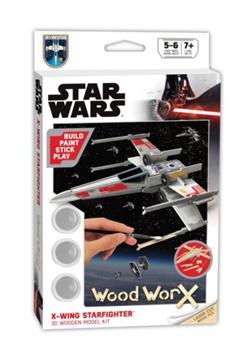 STAR WARS X-WING STARFIGHTER. Kit de madera para pintar y montar.