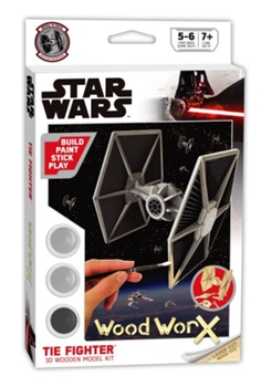 STAR WARS TIE FIGHTER. Kit de madera para montar y pintar.