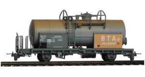 Vagón RhB P10001 en color gris.
