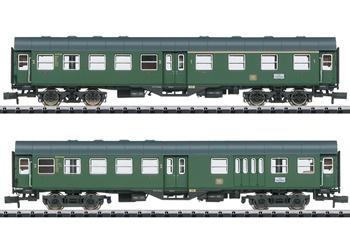 Set de dos coche de pasajeros DB, época III.